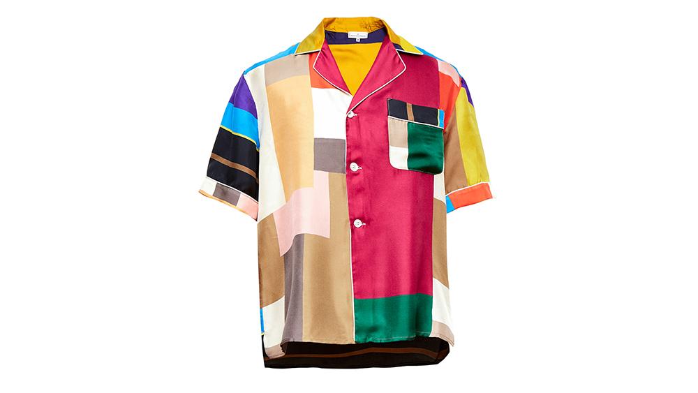 Pierre Louis Mascia's color-blocked silk shirt