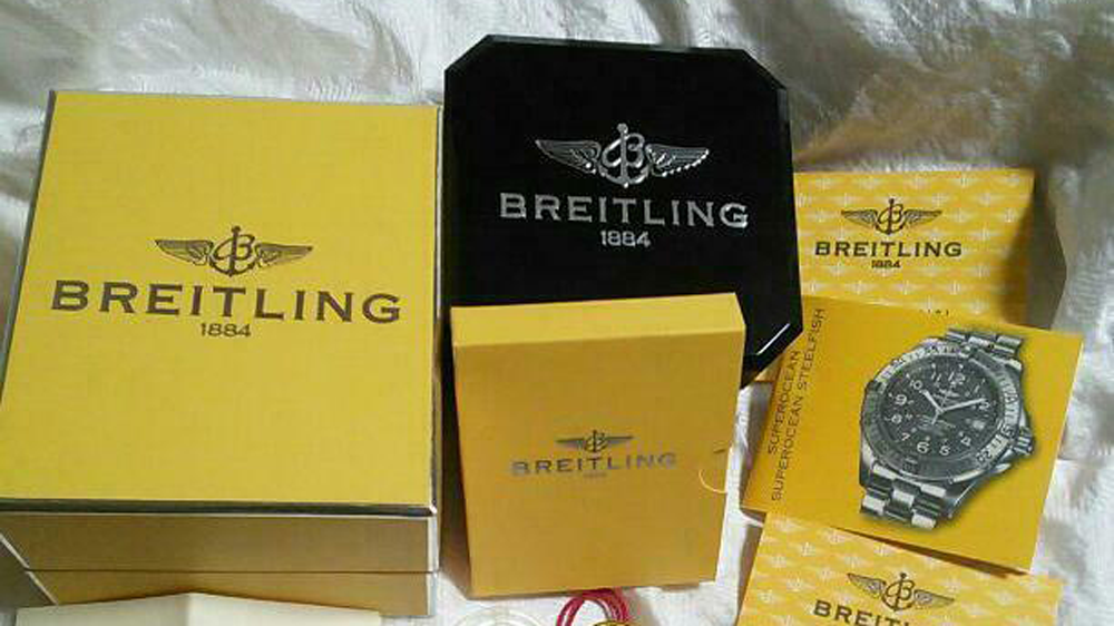 Breitling Box and Papers