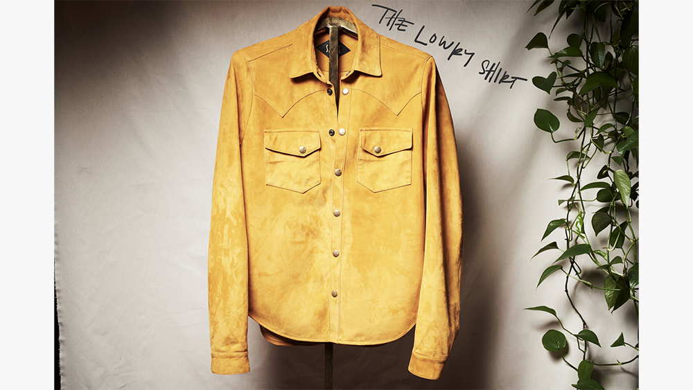 The Lowry, Savas' leather Western shirt.
