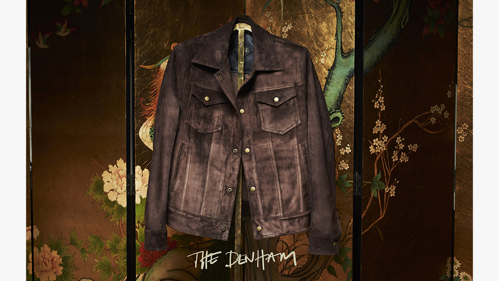 The Denham, Savas' leather trucker jacket.