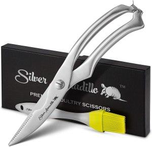 Silver Armadillo Poultry Scissors