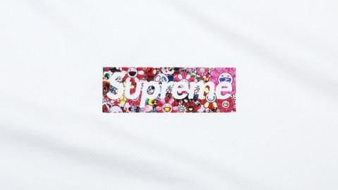 Takashi Murakami x Supreme Charity Box Logo Tee