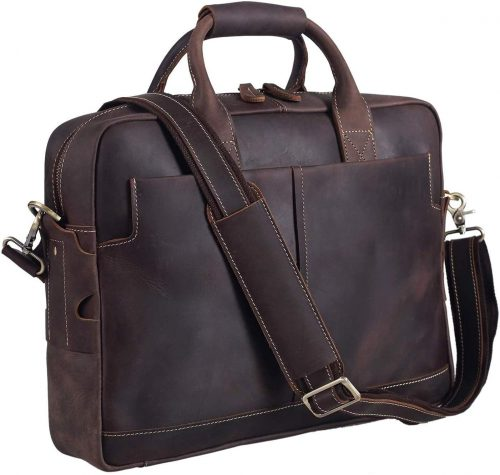 Texbo Leather Laptop Travel Bag