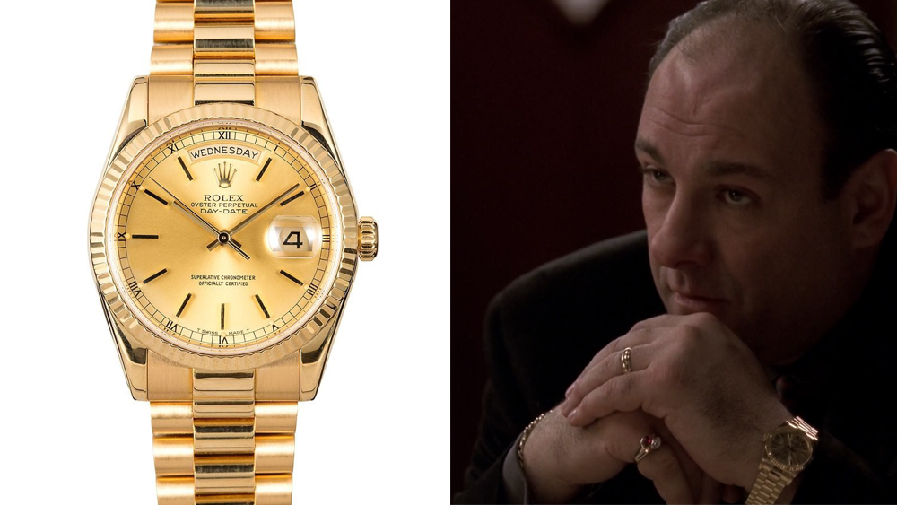 Tony Soprano and a Rolex Day-Date
