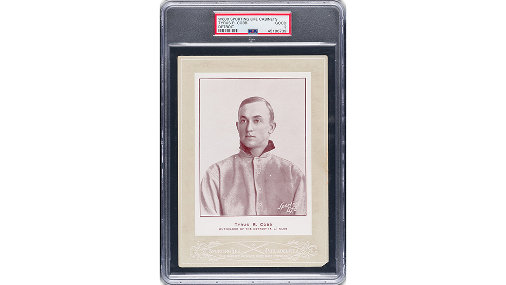 1907 W600 Sporting Life Cabinet Ty Cobb rookie card