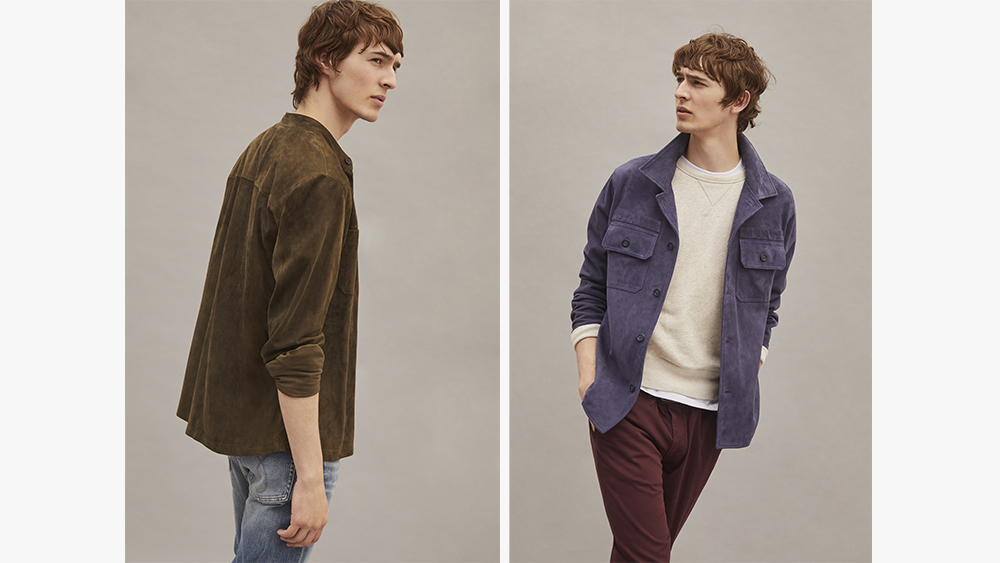 Two variations of Valstar's suede shirt jackets.