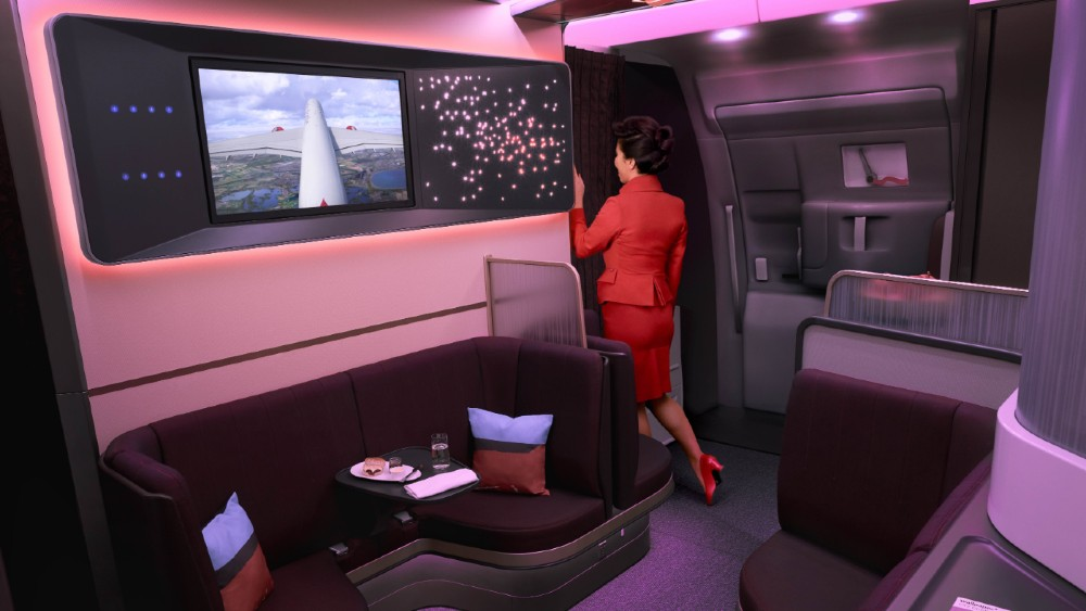 Virgin Atlantic The Loft aircraft