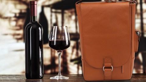 Luxury Leather Wine Tote