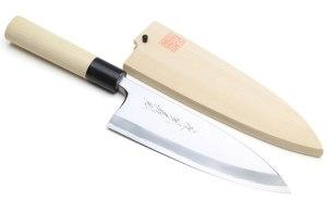 Yoshihiro Shiroko High Carbon Steel Kasumi Deba Knife