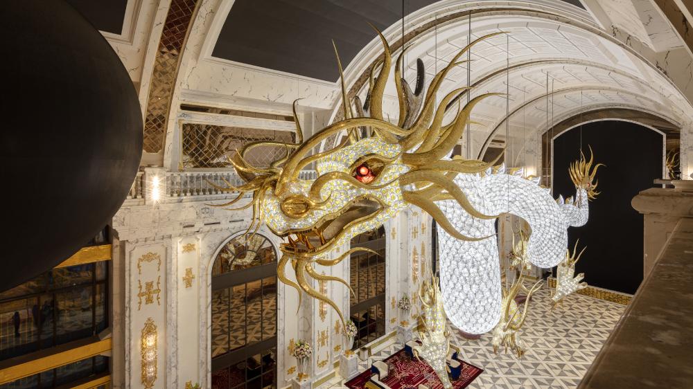 Lasvit Swarovski crystal dragon