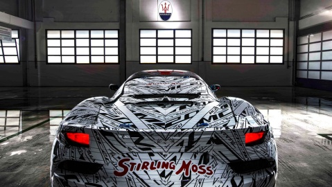 A Maserati MC20 prototype that pays tribute to racing legend Stirling Moss.