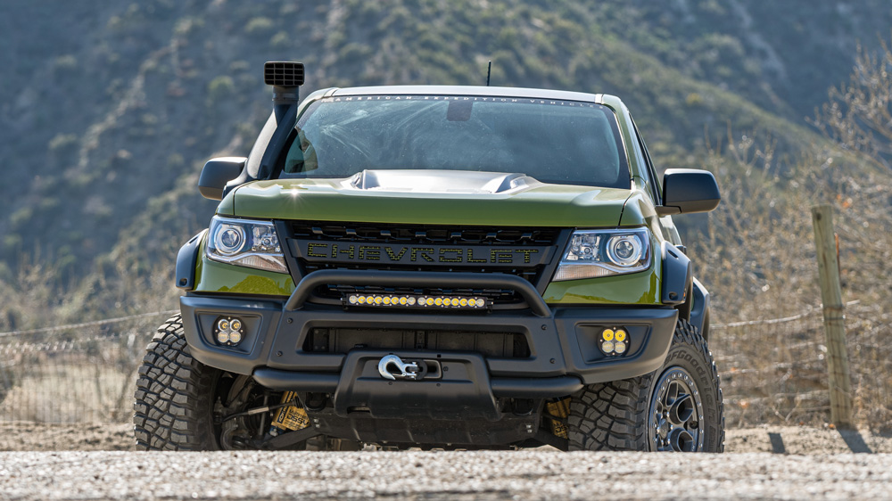the aev chevrolet colorado zr2 bison is a no compromise off road truck robb report the aev chevrolet colorado zr2 bison is