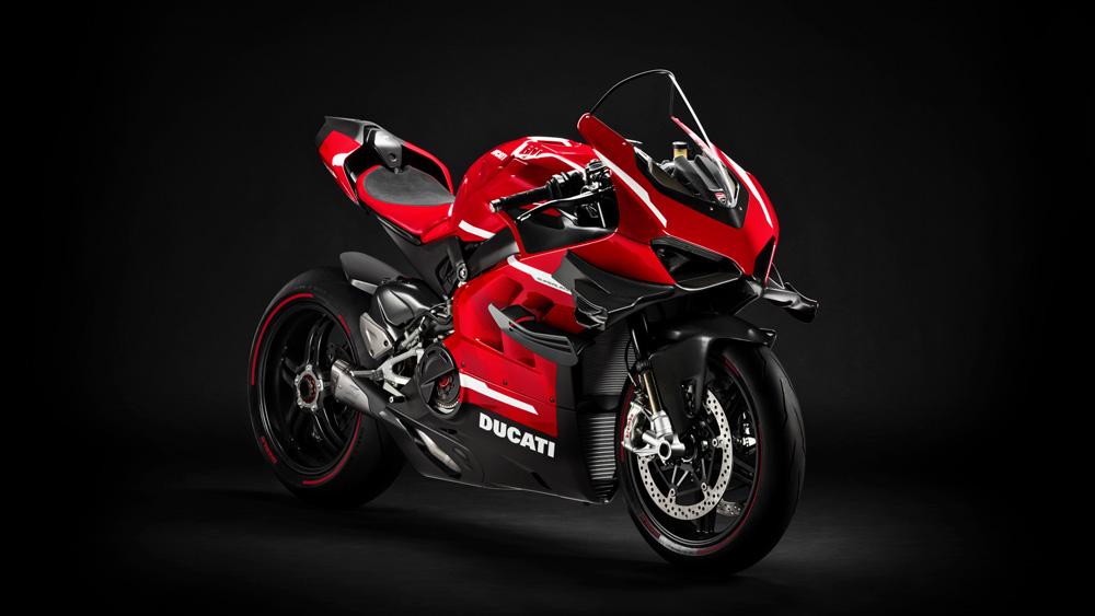 A preproduction example of Ducati's Superleggera V4.