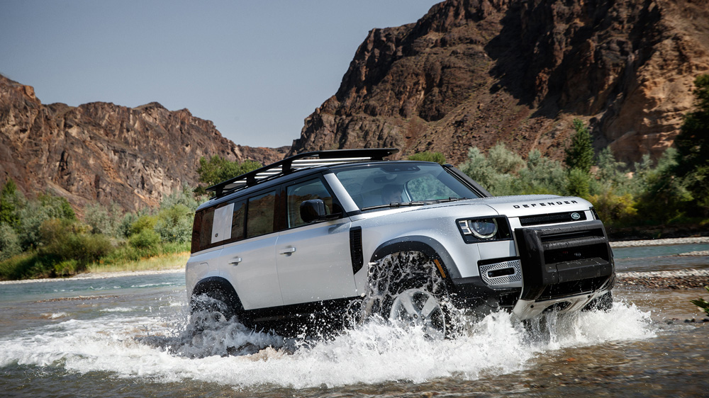 The 2020 Land Rover Defender 110.