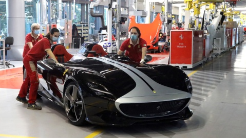 Ferrari Is on Track to Reach Full Production by May 8, 2020.