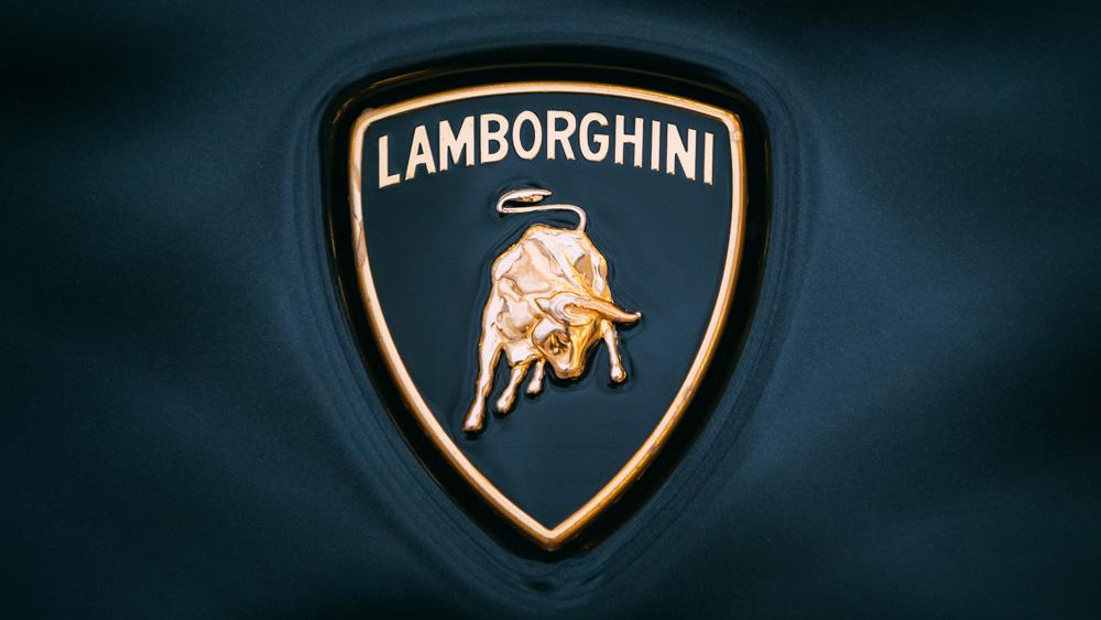The Lamborghini logo.