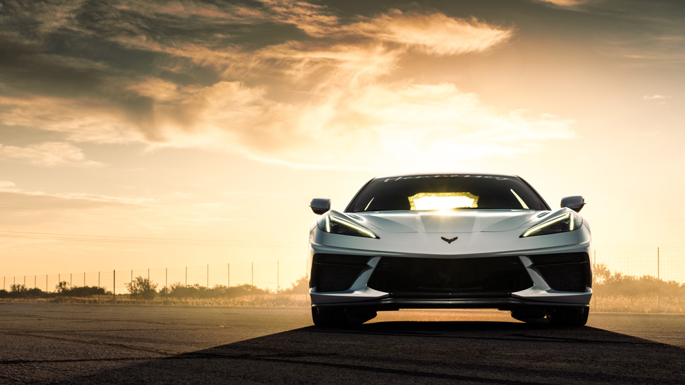 This Hennessy-enhanced 2020 C8 Corvette catapulted to 205.1 mph.