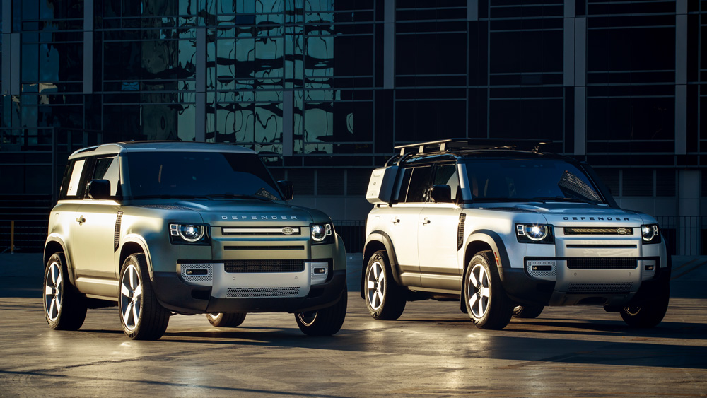 The 2020 Land Rover Defender 90 and 110 models.