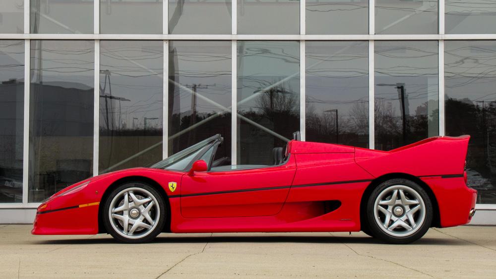 A 1995 Ferrari F50.