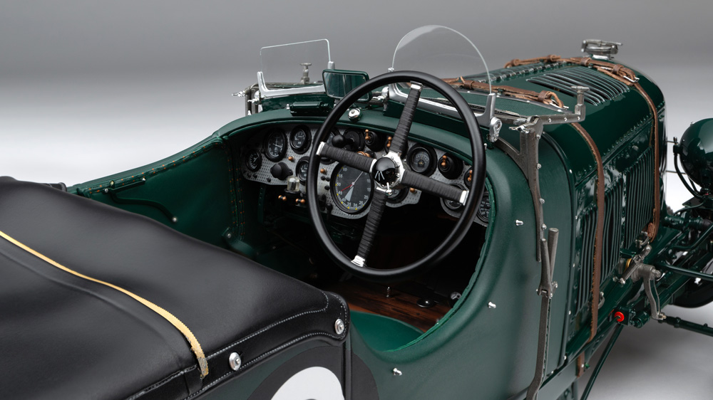 Bentley's legendary Birkin Blower reduced to 1:8 scale by Amalgam Collection.