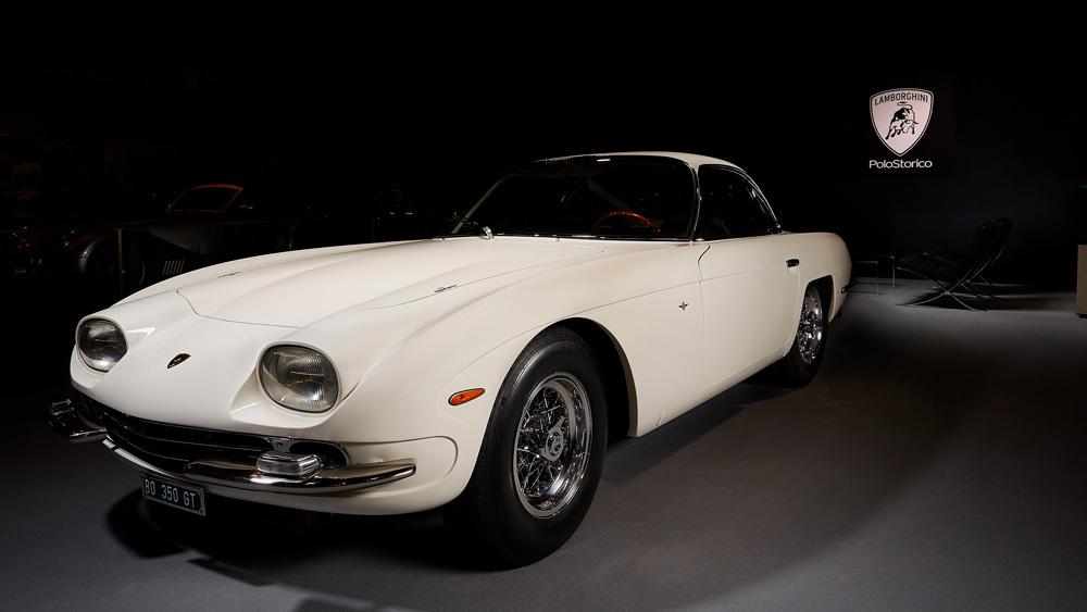 A restored 1964 Lamborghini 350 GT.