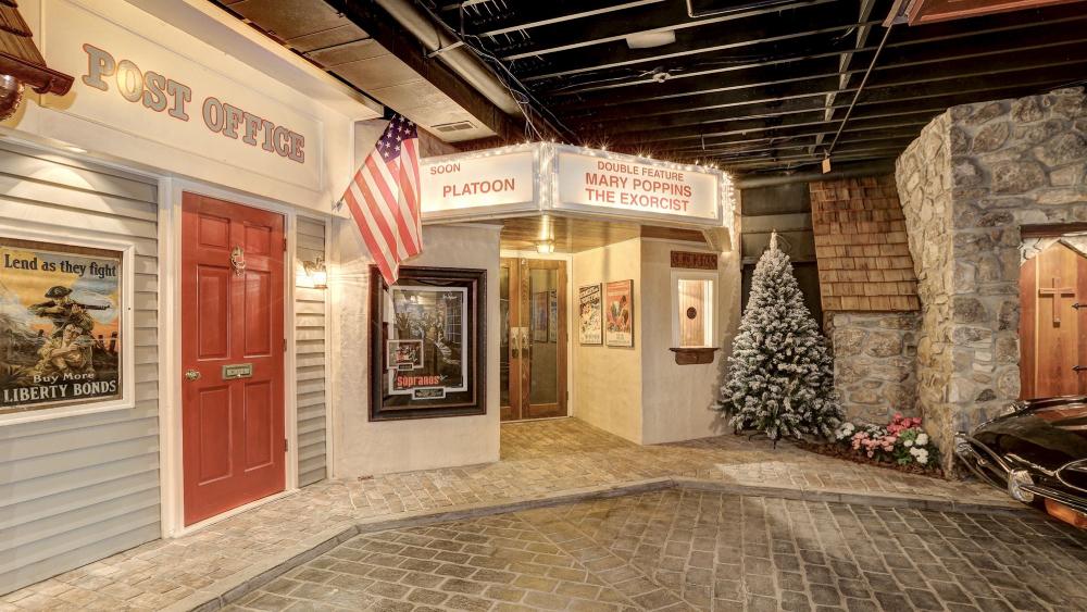 Potomac mansion town basement