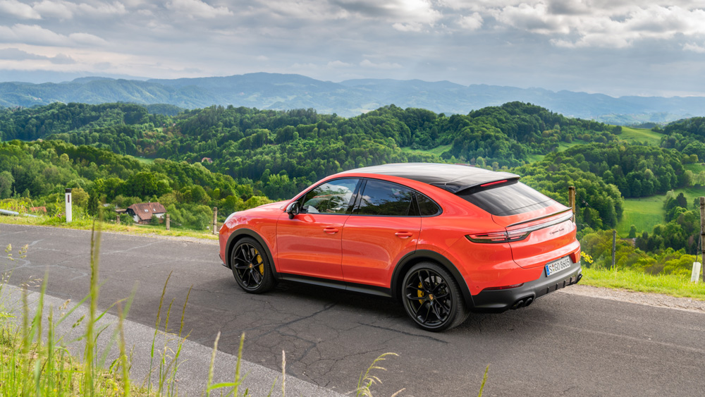 The 2020 Cayenne Turbo Coupe.