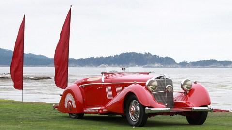 A 1937 Mercedes-Benz 540K Special Roadster.