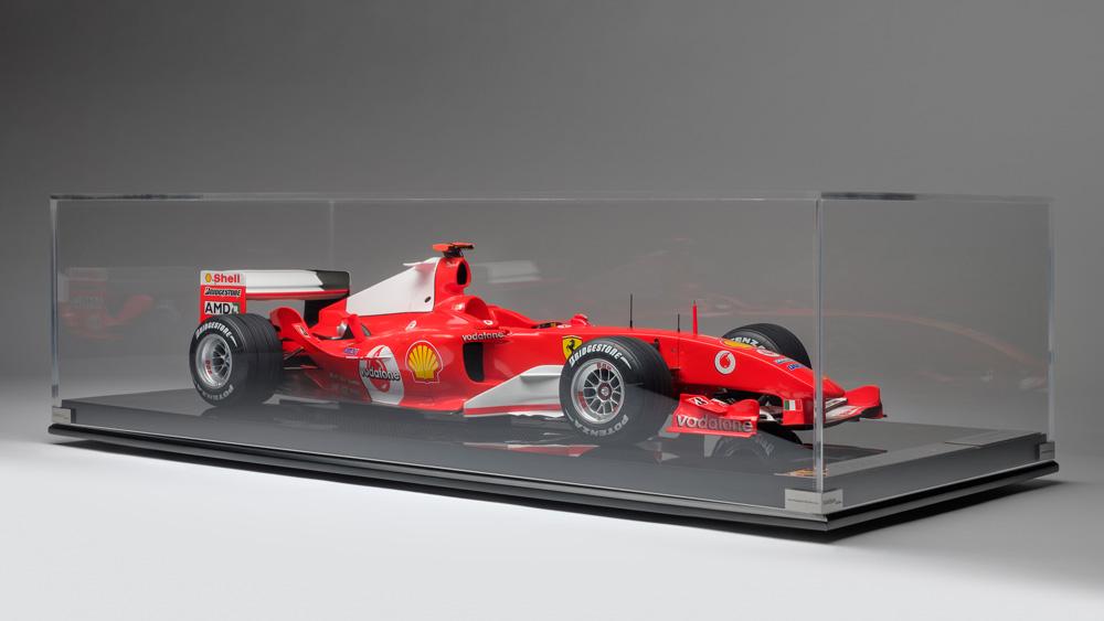 Amalgam's 1:8 scale replica of Michael Schumacher's Ferrari F2004 that he drove to victory at the San Marino Grand Prix.