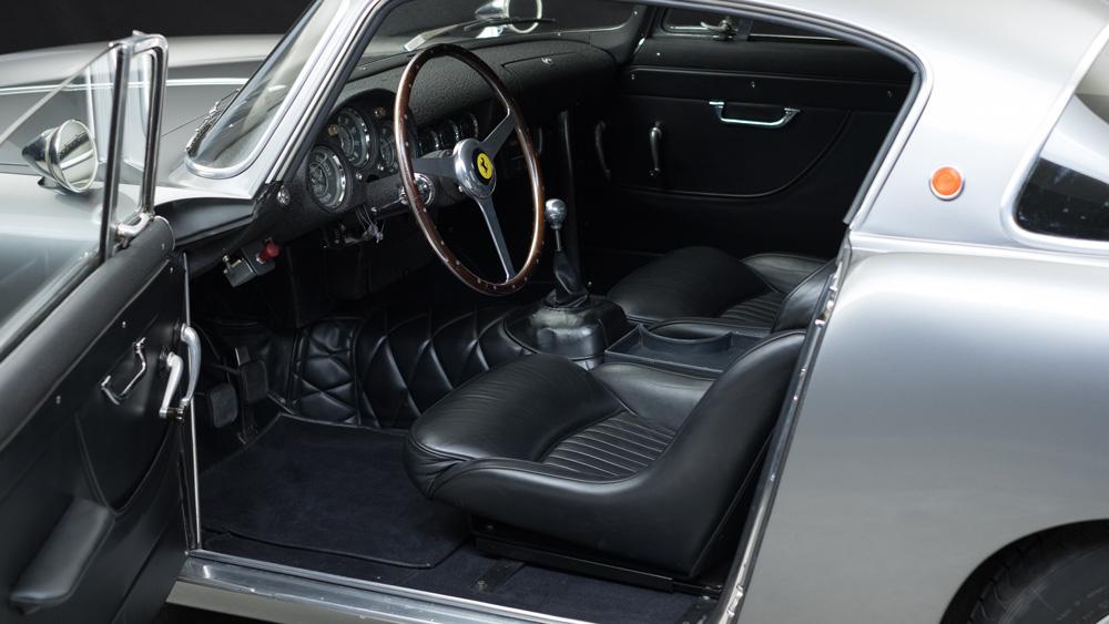 The interior of a 1956 Ferrari 250 GT Berlinetta Prototipo.