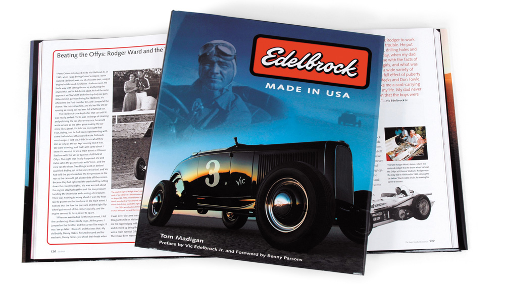 A book on aftermarket automotive specialist Edelbrock and the company's history.