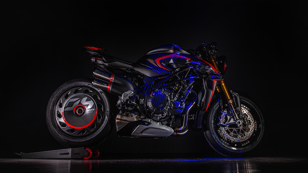 The MV Agusta Rush 1000 motorcycle.