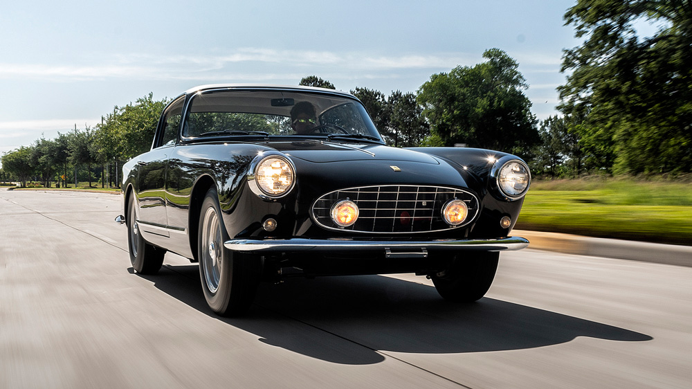 A 1958 Ferrari 250 GT Coupe.