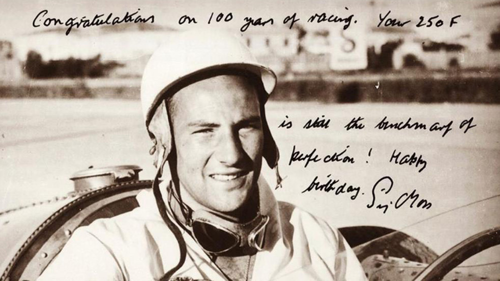 The late race-car driver Sir Stirling Moss.