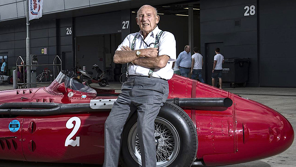 Sir Stirling Moss and his Maserati 250F.
