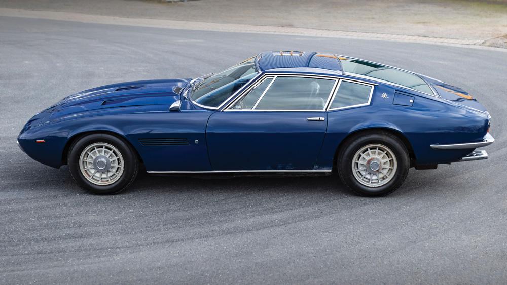 A 1969 Maserati Ghibli 4.7 Coupe by Ghia.