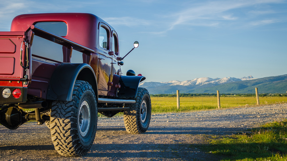 A Dodge Power Wagon conversion from Legacy Classic Trucks.