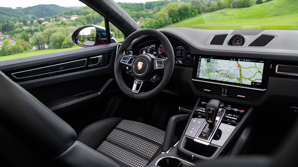 Inside the 2020 Cayenne Turbo Coupe.