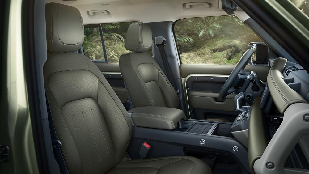 Inside the 2020 Land Rover Defender 110.