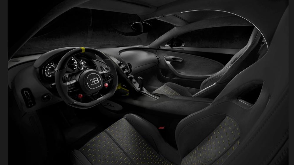 A rendering of the interior of a Bugatti Divo.