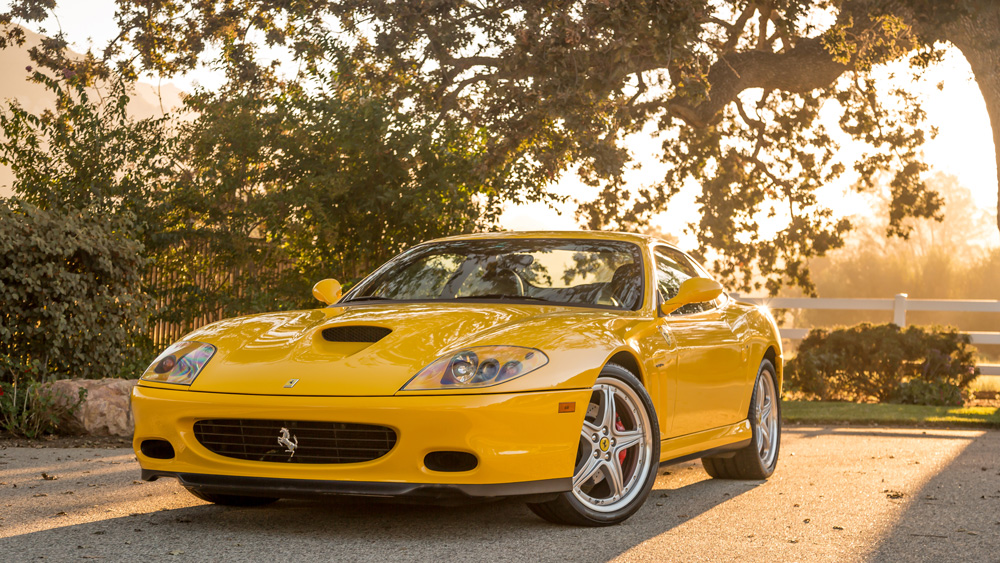 A 2002 Ferrari 575M Maranello.