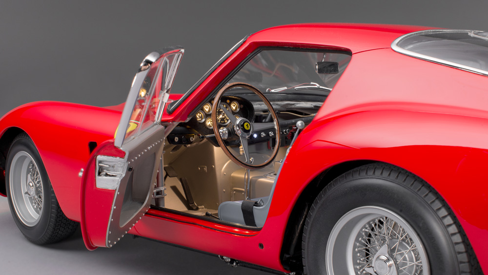 A 1:8 scale model of a Ferrari 250 GTO from Amalgam Collection.