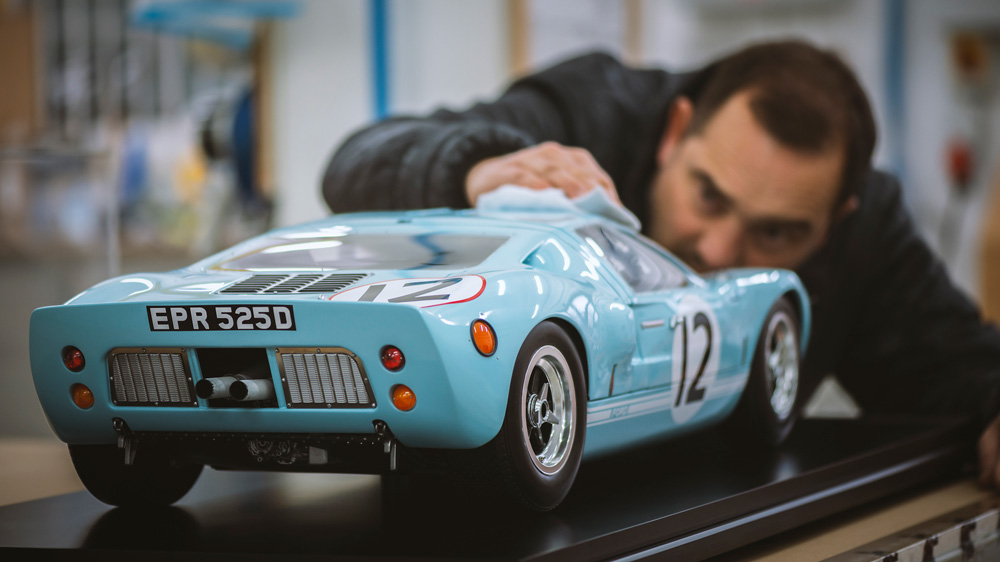 A 1:5 scale version of a Ford GT40 from Amalgam Collection.