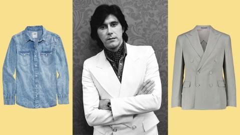 Levi's shirt, Bryan Ferry, Ralph Lauren blazer