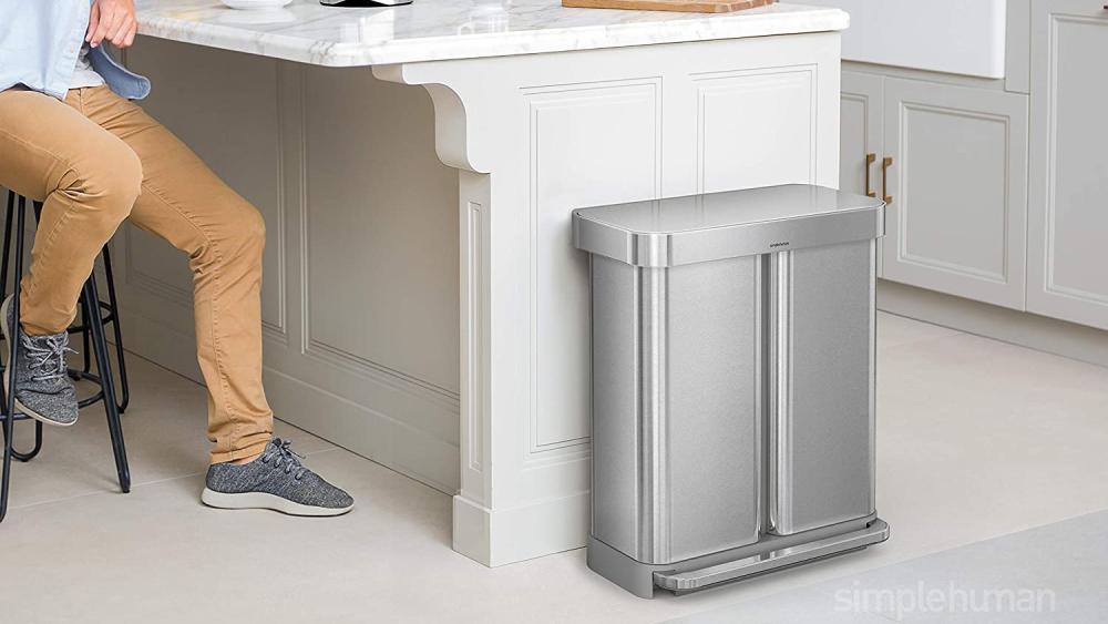 modern kitchen trash can