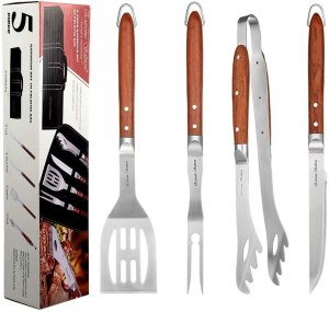 Extreme Salmon Deluxe BBQ Grill Tool Set