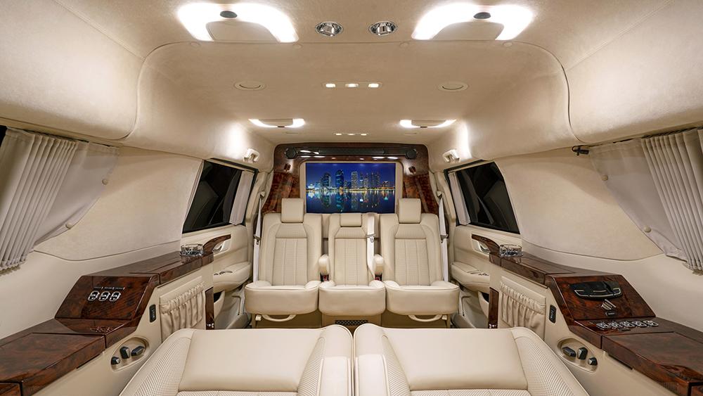 Inside Tom Brady's stretched Becker Cadillac Escalade ESV