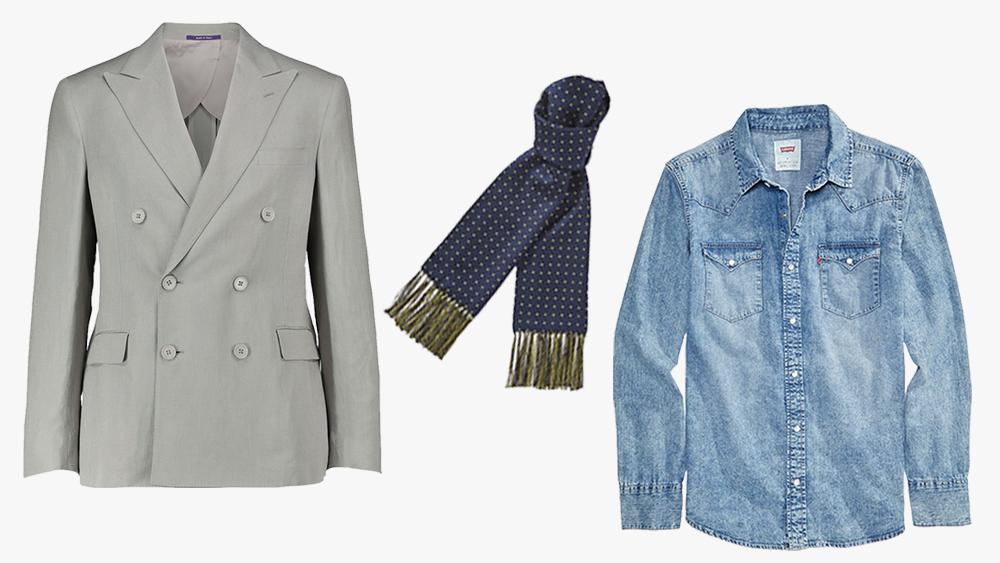 Ralph Lauren Blazer, New & Lingwood ascot, Levi's Western shirt