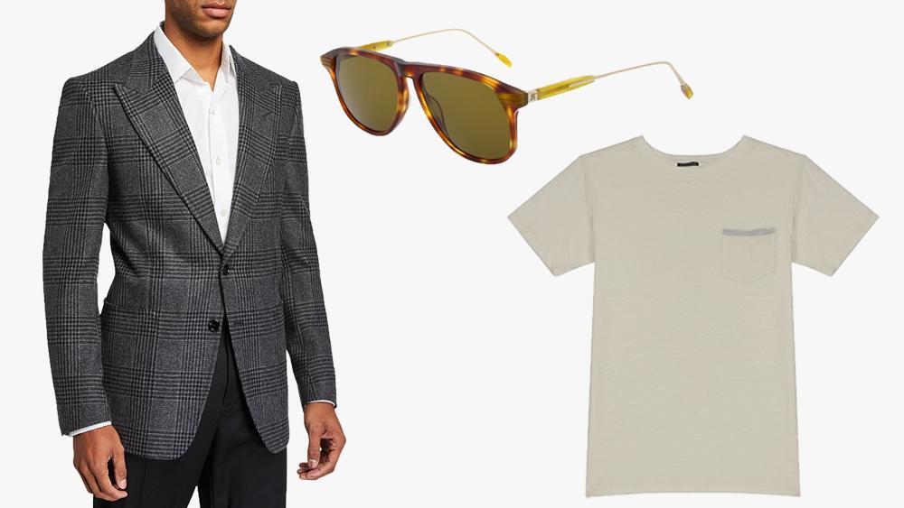 Tom Ford jacket, Hackett sunglasses, Hansen t-shirt
