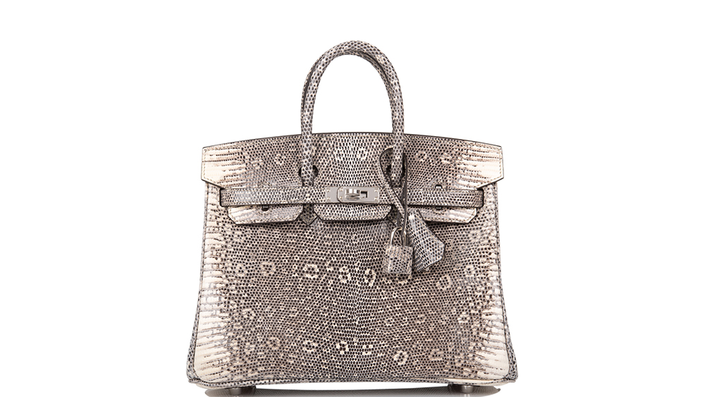 An ombre lizard Birkin purse by Hermès set the record for any handbag sold at auction.